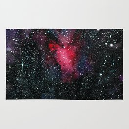 Red Cosmos Art Painting Rug