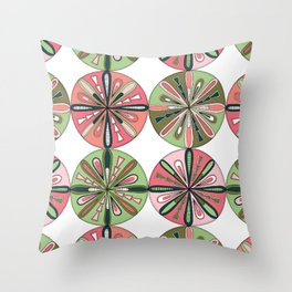 Compass Bloom Throw Pillow