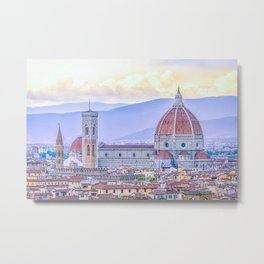 Cathedral of Santa Maria del Fiore  Florence Italy Metal Print