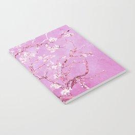 Vincent Van Gogh Almond BlossomS. Pink Lavender Notebook