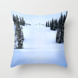 Fresh morning powder Throw Pillow