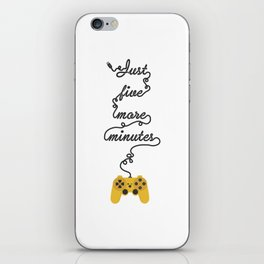 Just Five More Minutes - Video Games Playstation Controller iPhone Skin