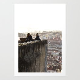 The view from the castle Art Print