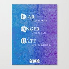 Yoda Quote Canvas Print