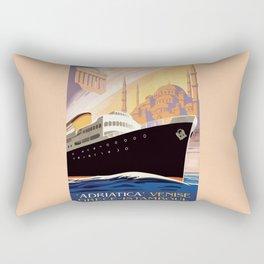 Venice Greece Istanbul shipping line retro vintage ad Rectangular Pillow