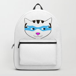 Superhero Cat with Mask Backpack