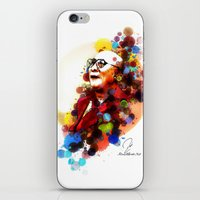 lama iPhone & iPod Skins featuring Dalai Lama by Rene Alberto