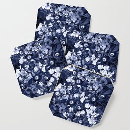Bohemian Floral Nights in Navy Coaster