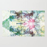 rorschach Area & Throw Rugs featuring Rorschach by not a name