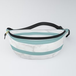 marble horizontal stripe pattern turquoise Fanny Pack