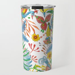 Flowers and Birds of Paradise Travel Mug