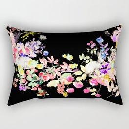 Soft Bunnies black Rectangular Pillow