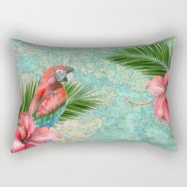 Tropical Map Rectangular Pillow