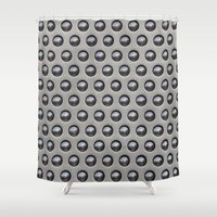 metallic Shower Curtains featuring Metallic Drops by Alice Gosling