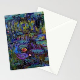 Water Lilies by Claude Monet Stationery Cards