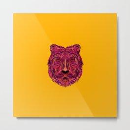 Abstract Tiger Metal Print