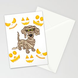 Dog Mummy Halloween Shirt For October 31st T-shirt Design Spooky Creepy Halloween Scary Ghost Stationery Cards