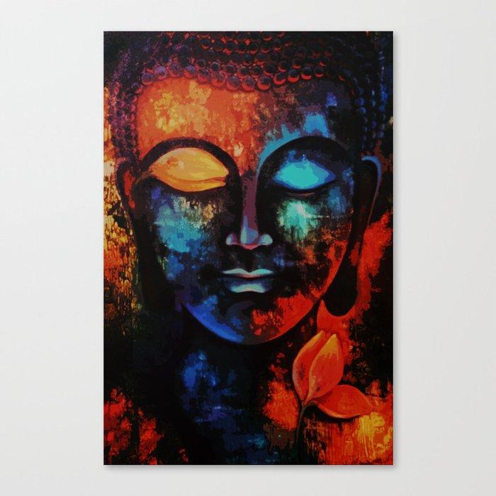 Lord Buddha Abstract Art Canvas Print By Designhut