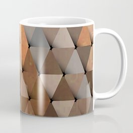 Triangles Brown Gray Coffee Mug