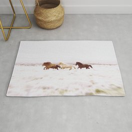 WILD AND FREE 5 - HORSES OF ICELAND Rug