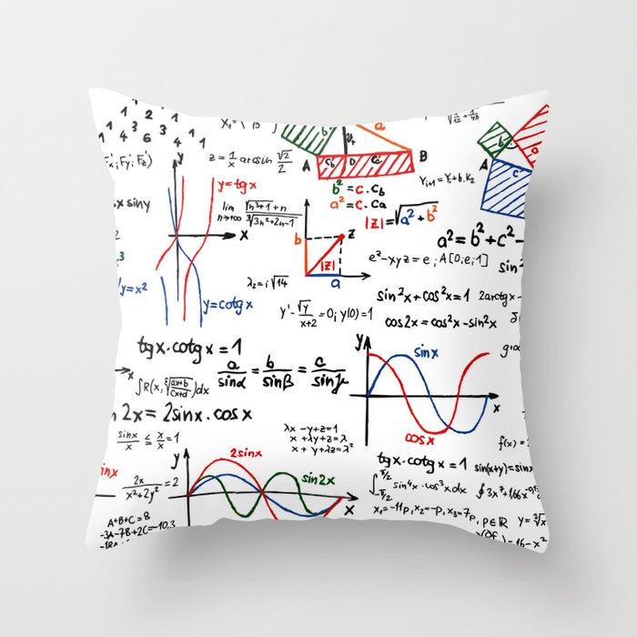 Math Cheat Sheet Throw Pillow by pixelstory   Society6