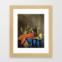Cornelis De Heem - Still Life With Lobster Framed Art Print