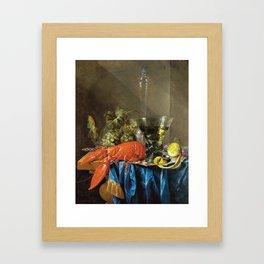Cornelis De Heem - Still Life With Lobster Framed Art Print