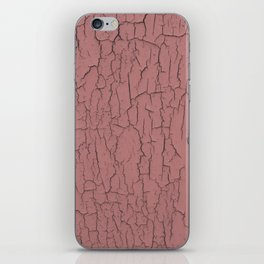 Pink cracked wall paint abstract art wall decor iPhone Skin