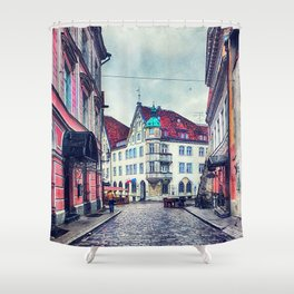 Tallinn art 11 #tallinn #city Shower Curtain