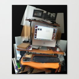 Artist's Workstation at James Pointe Apartments, September 2012 Canvas Print