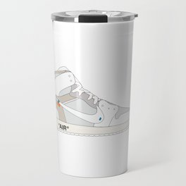 "N I K E AIR JORDAN THE 10: AIR JORDAN 1 ""OFF-WHITE"" White Travel Mug"
