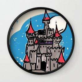 Transylvania Castle vintage travel poster Wall Clock