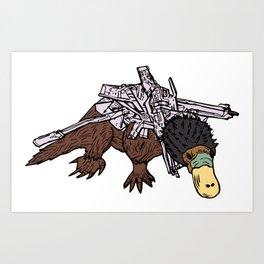 Battle Platypus Art Print