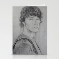 sam winchester Stationery Cards featuring Sam Winchester by Brooke Shane
