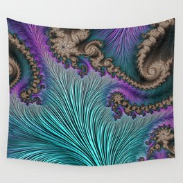 Aqua Fronds Wall Tapestry