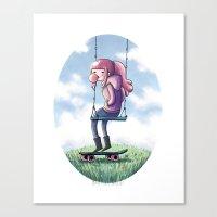 princess bubblegum Canvas Prints featuring bubblegum princess by Martina Naldi