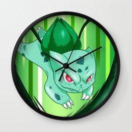 Grass Pocket Monster - 001 Wall Clock