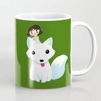 princess mononoke Mugs featuring Princess Mononoke by Mayying