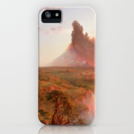 Frederic Edwin Church - Eruption at Cotopaxi - Hudson River School Oil Painting iPhone Case
