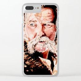 Kurt Russell Watercolor Portrait Clear iPhone Case