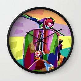 Vespa #1 Wall Clock