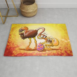 Ambitious Easter Bunny Rug