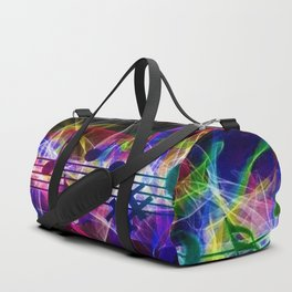 Colorful musical notes and scales artwork Duffle Bag