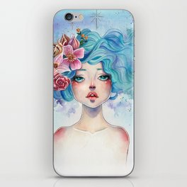 Blue Hair iPhone Skin