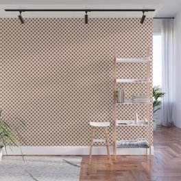 Cavern Clay SW 7701 Tiny Uniform Polka Dot Pattern 1 on Creamy Off White SW7012 Wall Mural