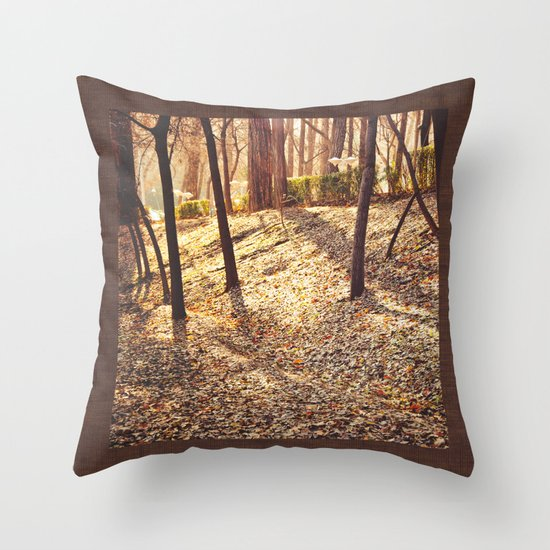 Bed of Leaves Throw Pillow