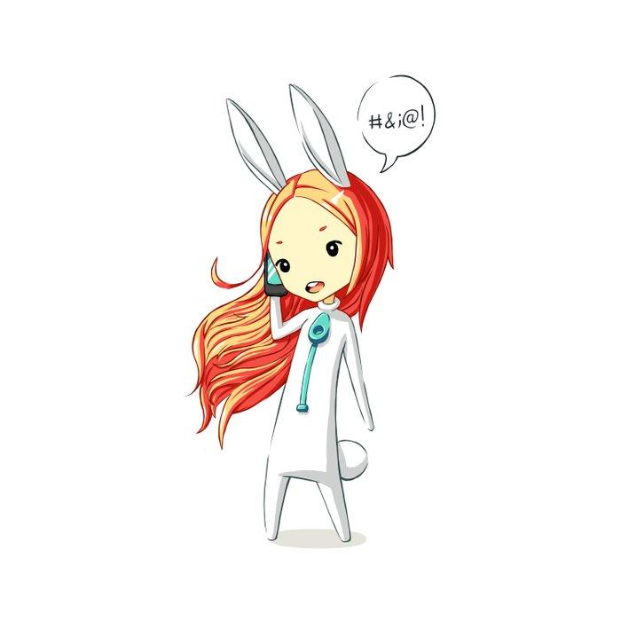 Bunny Girl 2 Duvet Cover