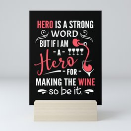 Wine hero red wine glass brandy Mini Art Print