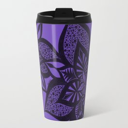Floral Fantasy in Purple Travel Mug