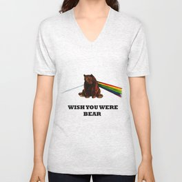 Wish You Were Bear Unisex V-Neck